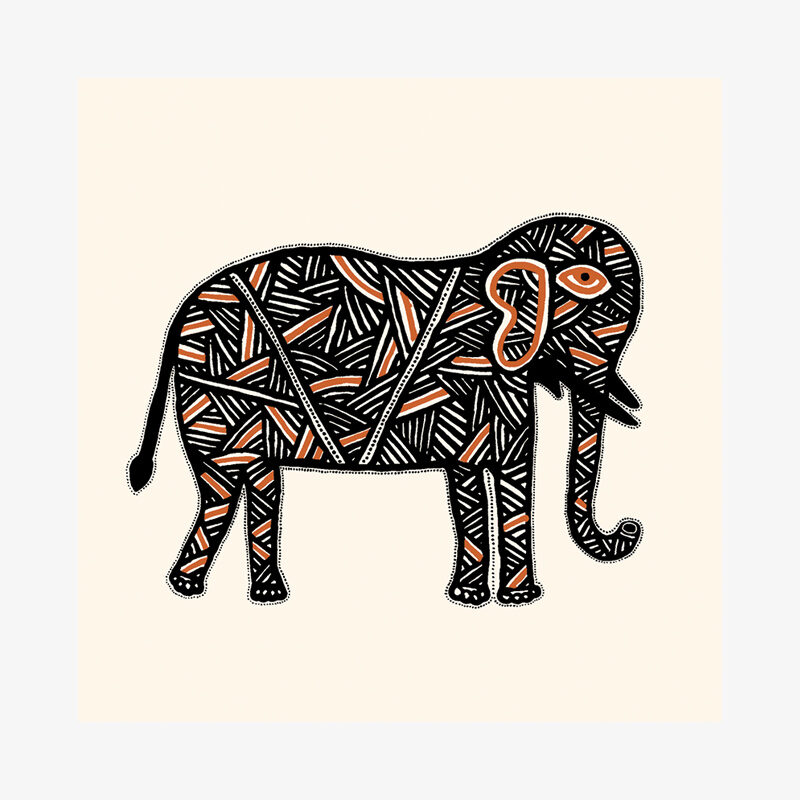 Meena Elephant Card