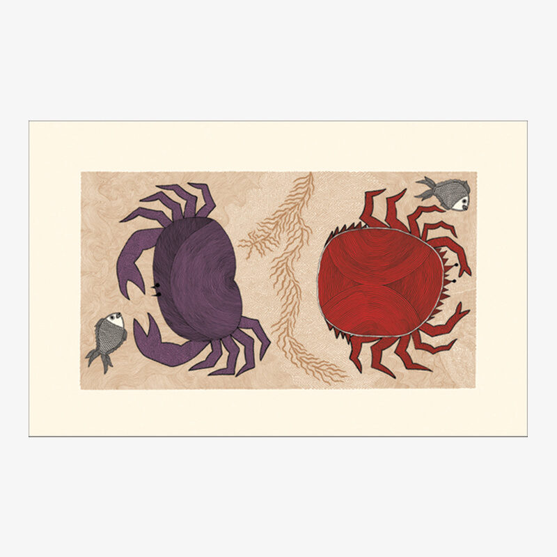 The Crab and the Spider Crab Card